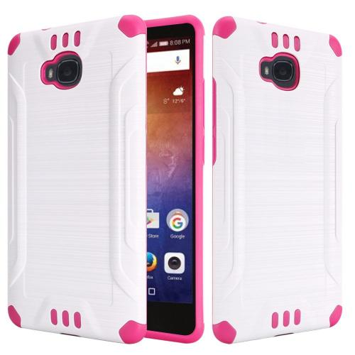Huawei Ascend Xt Case, Slim Armor Brushed Metal Design Hy...