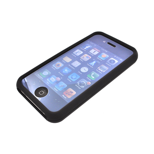 "AT&T/ Verizon Apple iPhone 4, iPhone 4S Rubberized Hard Case w/ Aluminum Back - Black ""A Better Amercia"" [ENGRAVED]"