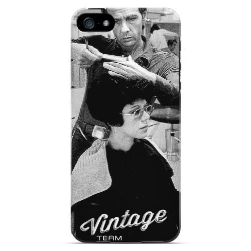 Retro Paul Mitchel Geek Nation Program Premium High Impact Resistant Apple iPhone 5 Ultra Slim Rubberized Hard Case