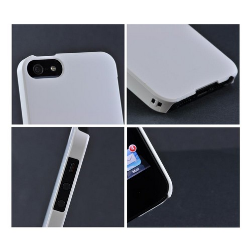 Premium High Impact Resistant Apple iPhone 5/5S Ultra Slim Rubberized Hard Case - Snow White