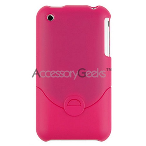 Premium Apple iPhone 3G Rubberized Protective Hard Case - Hot Pink