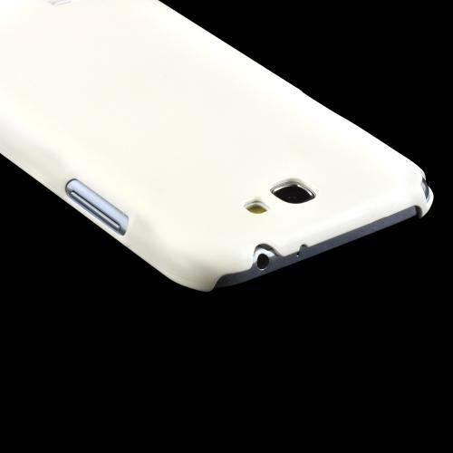 Matte White High Impact Resistant Ultra Slim Rubberized Hard Case for Samsung Galaxy Note 2