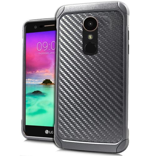 LG Stylo 3 Case, Rubberized Slim Dual layer Hybrid Hard Case on TPU Case [Carbon Fiber Design]