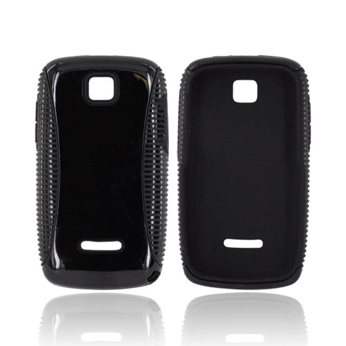 Motorola Theory Hard Back Over Crystal Silicone Case - Black