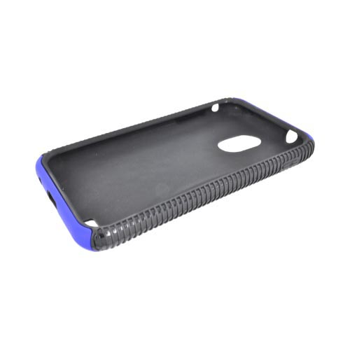 Samsung Epic 4G Touch Rubberized Hard Back Over Crystal Silicone - Blue/ Black