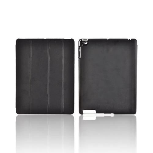 Original Naztech Slim Cover Apple iPad 2 Case Stand w/ Smart Cover - Black