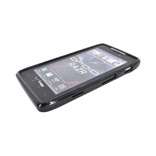 Motorola Droid RAZR Hard Case w/ Textured Back - Black