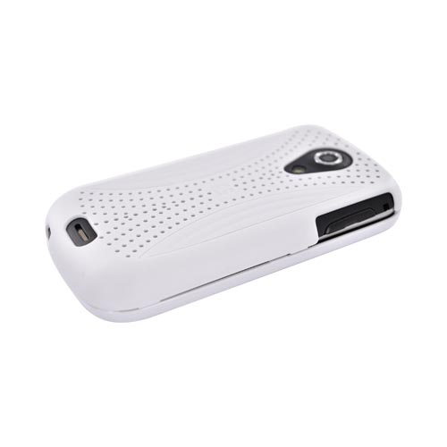 Samsung Epic 4G Hard Case w/ Perforated Textured Back - White