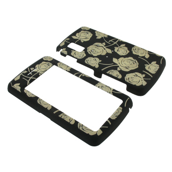 LG VU CU920 Glow in the Dark Illusion Hard Case - Clear Roses on Black