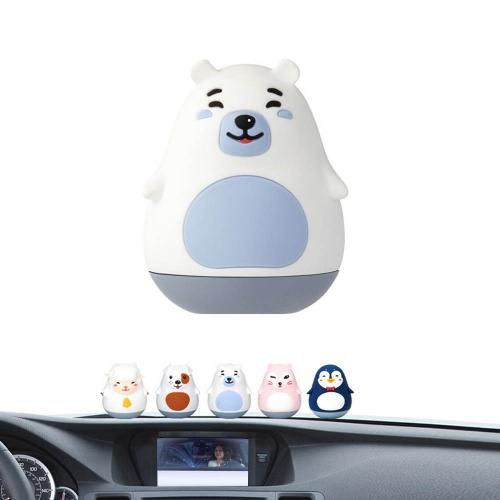 Car Air Freshener, [Aqua] Bullsone Pola Family Dashboard BooBoo - 100% Natural Essential Oil Scents!