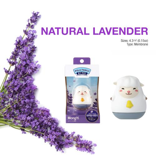 Car Air Freshener, [Lavender] Bullsone Pola Family Dashboard MongYi - 100% Natural Essential Oil Scents!