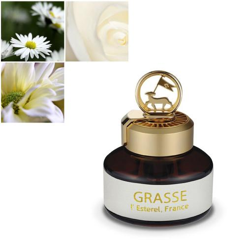 Premium Car Air Freshener, [White Musk] Bullsone Grasse L'esterel - Natural Essential French Oil Scents!