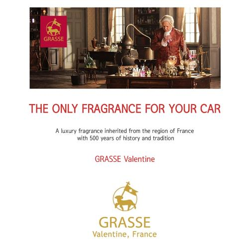 Premium Car Air Freshener, [Bulgarian Rose] Bullsone Grasse Valentine - Natural Essential French Oil Scents!