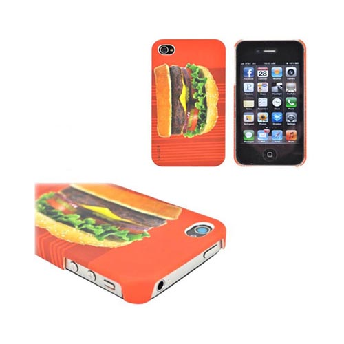 At&t/ Verizon Apple Iphone 4, Iphone 4s Hamburger Fast Food Combo W/ Dci Universal Hamburger, French Fries & Drink Earbud Headset (3.5mm) Bundle