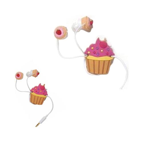 At&t;/ Verizon Apple Iphone 4, Iphone 4s Cupcakes & Sprinkles Food Combo W/ Dci Universal Pink Cupcakes Earbud Headset (3.5mm) & more!