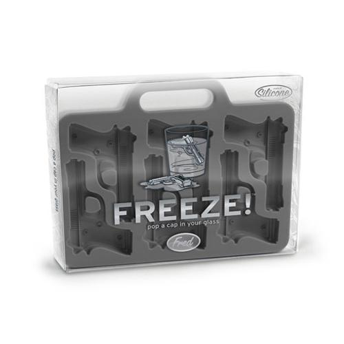 Fred & Friends Freeze! Handgun Silicone Ice Cube Tray - Pop A Cap In Your Glass