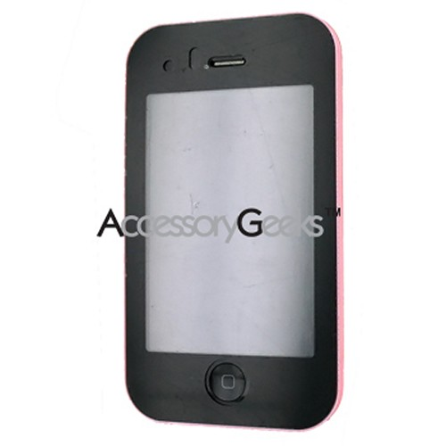 Premium Apple iPhone 3G Rubberized Integrated Hard Case w/ Touch Screen Lens - Baby Pink
