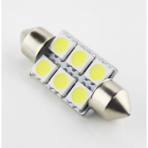 Festoon FS 36mm 6 SMD-5050 LED Light Lamp [White]