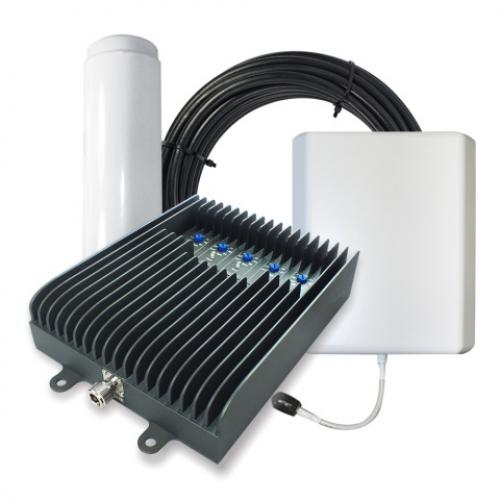 SureCall Fusion5S Omni Panel Five-band Home Cellular Signal Booster Amplifier Kit [Up to 6,000 Square Feet] - FCC Approved!