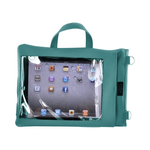 G-Mate Apple iPad Genuine Leather Carry Case w/ Shoulder Strap - Turquoise