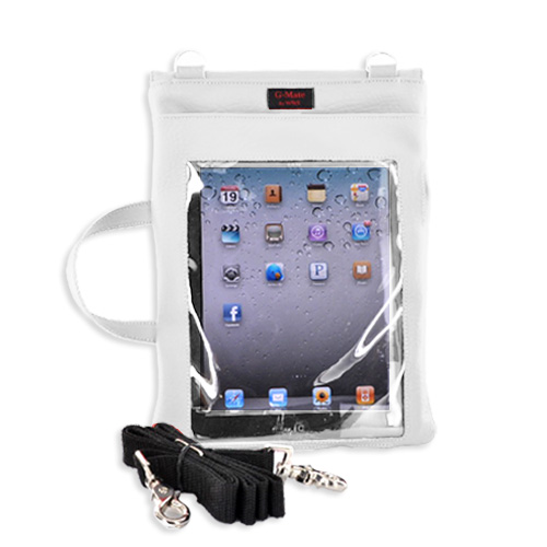 G-Mate Apple iPad Genuine Leather Carry Case w/ Shoulder Strap - White