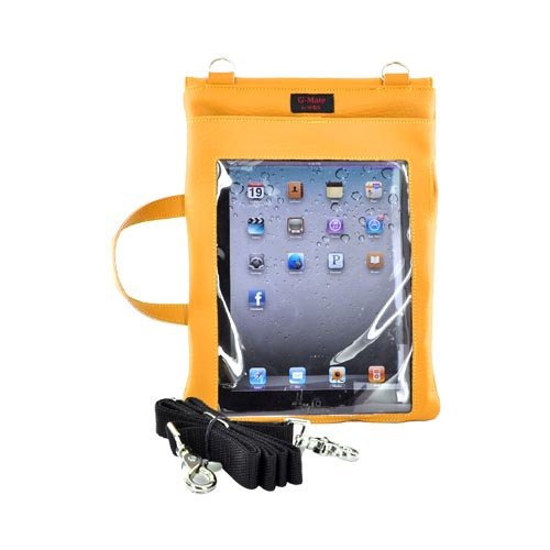 Original TurtleBack G-Mate Apple iPad (All Gen.) Genuine Leather Carry Case w/ Shoulder Strap - Mustard Yellow