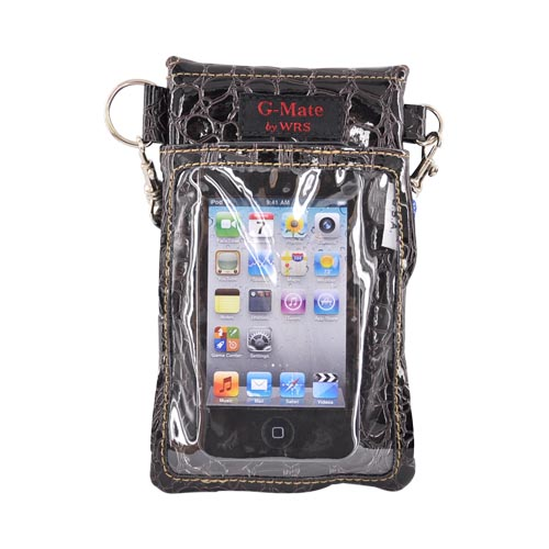 G-Mate Universal iPhone/iPod Carry Case w/ Strap - Crocodile Coffee Brown