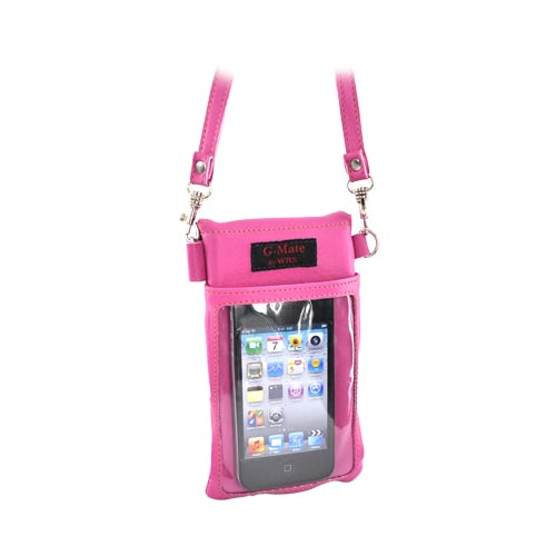 G-Mate iPhone/iPod Genuine Leather Carry Case w/ Strap - Pink