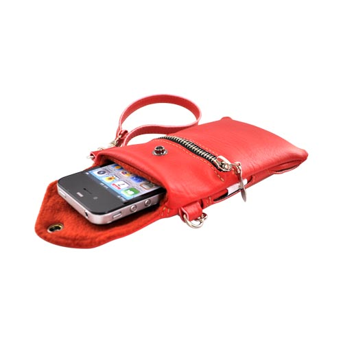 G-Mate Universal iPhone/iPod Genuine Leather Carry Case w/ Strap - Red