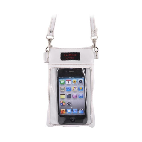G-Mate iPhone/iPod Genuine Leather Carry Case w/ Strap - White