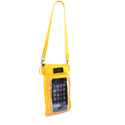 Original TurtleBack G-Mate Universal iPhone/iPod Genuine Leather Carry Case - Golden Yellow
