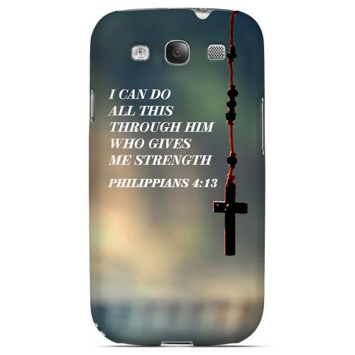 Geeks Designer Line (GDL) Bibles Series Samsung Galaxy S3 Matte Hard Back Cover - Philippians 4:13