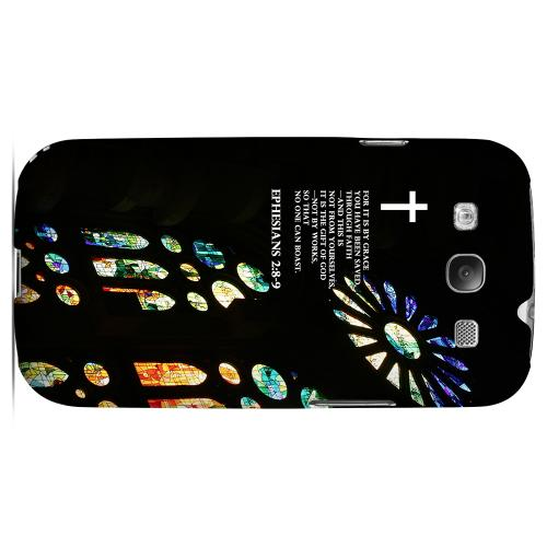 Geeks Designer Line (GDL) Bibles Series Samsung Galaxy S3 Matte Hard Back Cover - Ephesian 2:8-9