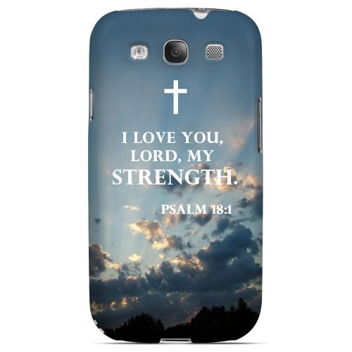 Geeks Designer Line (GDL) Bibles Series Samsung Galaxy S3 Matte Hard Back Cover - Psalm 18:1