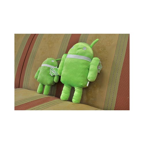 "Squishy 6"" Ganndroid Plush Pillow - Green/ White"