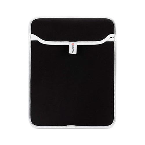 Original Griffin Apple iPad Neoprene Sleeve Case, GB01582 - Black w/ White Trim