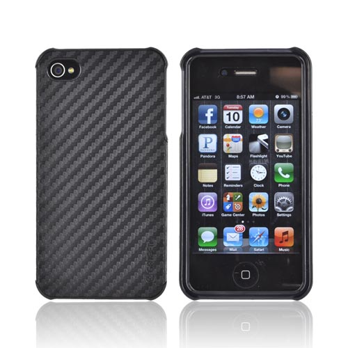 Original Griffin Elan Form AT&T/ Verizon Apple iPhone 4, iPhone 4S Hard Case w/ Carbon Fiber Texture, GB01694 - Black