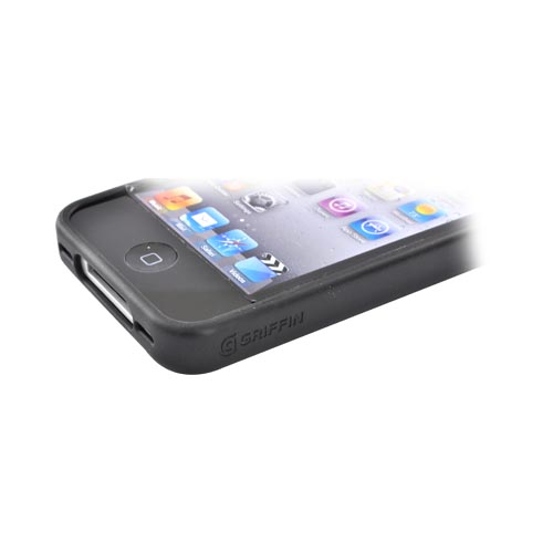 Original Griffin Apple iPhone 4S, AT&T/Verizon iPhone 4 Slim Shell Case w/ Rubber Ring, GB01747 - Clear/Black