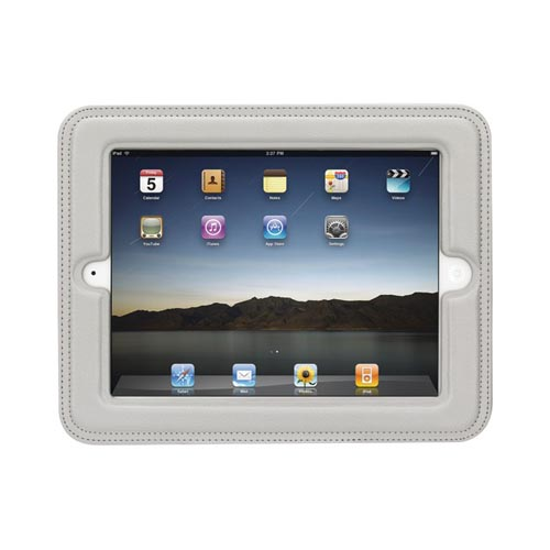 Original Griffin iPad 2, New iPad Cinemaseat Case Faux Leather Headrest Case - Light Gray
