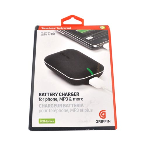 Original Griffin TuneJuice Universal USB Battery Charger, GC23058 - Black