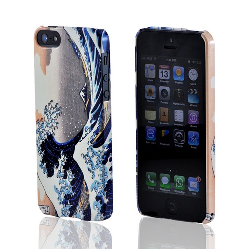 Geeks Designer Line (GDL) Apple iPhone 5/5S Katsushika Hokusai Slim Hard Back Cover - The Great Wave off Kanagawa