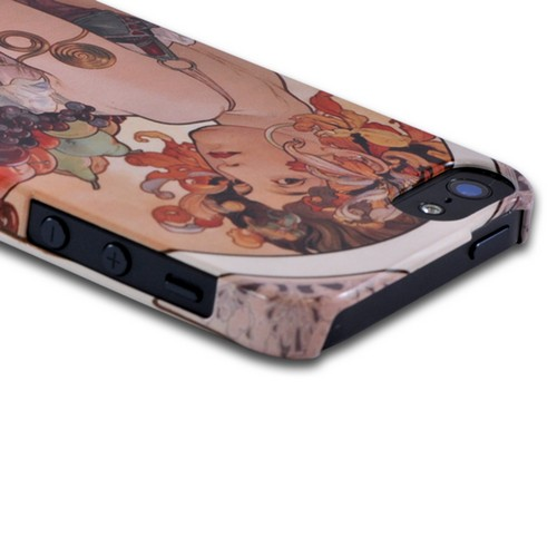 Geeks Designer Line (GDL) Apple iPhone 5/5S Alphonse Mucha Slim Hard Back Cover - Fruit