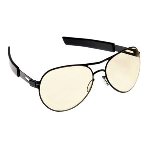 Gamers Edge Black Knight Aviator Glasses with Black Temples
