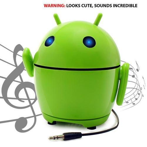 GOgroove Universal Pal Bot Portable Rechargeable Stereo Speaker (3.5mm), GG-PAL-BOT - Green/ Black
