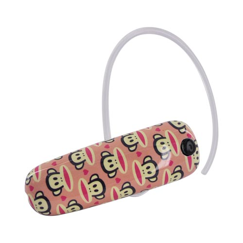 Original Earloomz Paul Frank Universal Bluetooth Headset, GL-144 - Julius Hearts on Pink