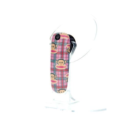 Original Earloomz Paul Frank Bluetooth Headset, GL-18 - Julius Plaid Pink