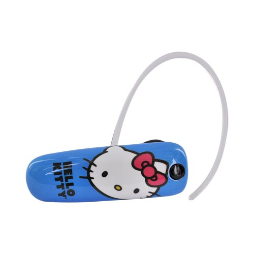 Original Earloomz Hello Kitty Universal Bluetooth Headset, GL-452 - Hello Kitty Face on Blue