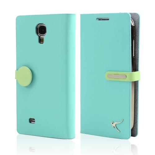 Mint iRoo Be All Genuine Leather Diary Flip Cover Hard Case w/ ID Slots & Billfold for Samsung Galaxy S4