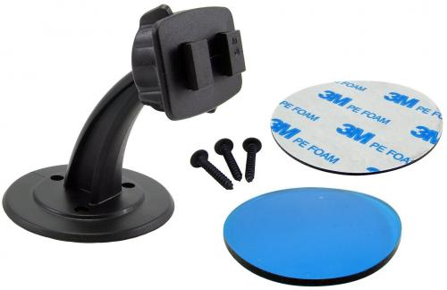 Arkon Black Triple Option - Adhesive Dashboard, Removable Desktop, or Screw Mount
