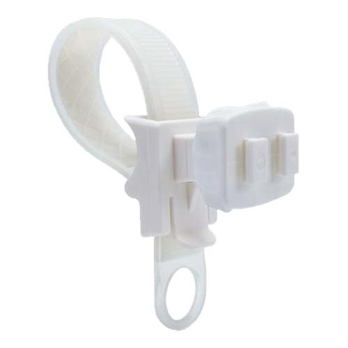 Arkon White Zip-Tie Style Quick-Release Strap Mount - WHITE with Clear Strap